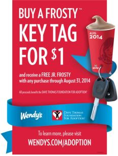 frosty key tag wendy's 2014