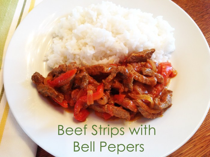 Beef Strips With Bell Peppers