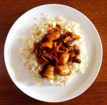 Calamari With Raisins And Pine Nuts