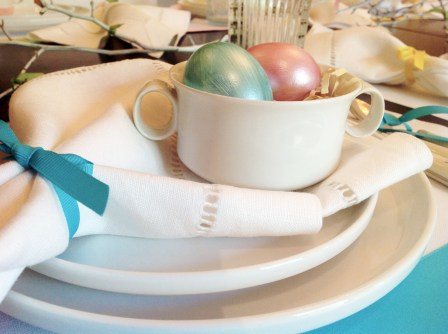 Blue Placemat With Egg Bowl
