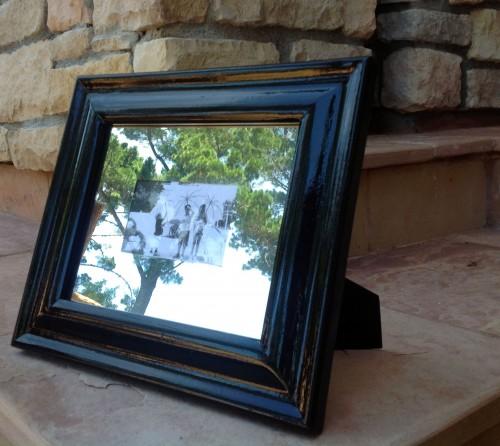 Black & White Frame In The Garden - My Dear Irene