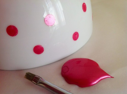 Pink Bowl With Tip Of Brush - My Dear Irene