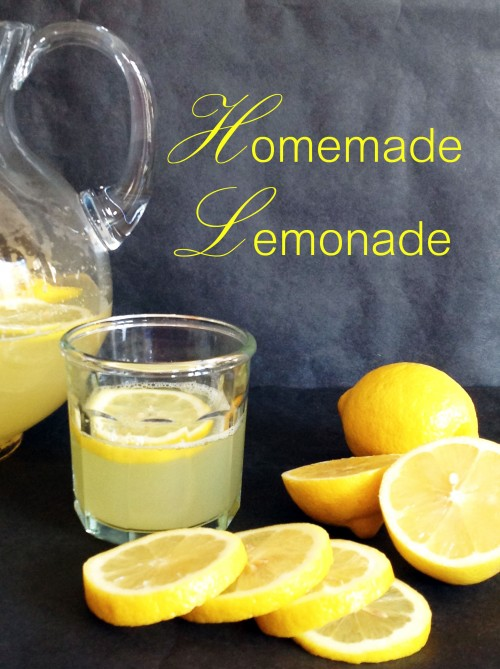 Homemade Lemonade - My Dear Irene