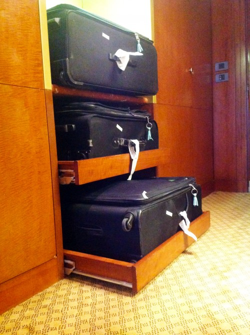 Pull Out Suitcase Shelves