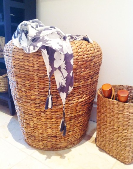 Wicker Stool In The Entryway - mydearirene