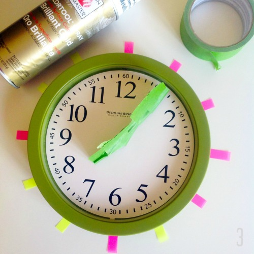 Clock With Painter's Tape - mydearirene