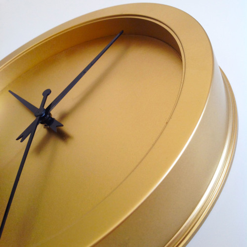 Golden Metallic Wall Clock - mydearirene