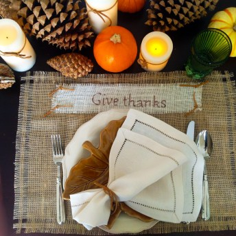 No-Sew Rustic Thanksgiving Placemats