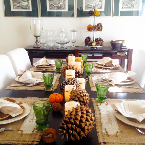 Thanksgiving Table Setting - mydearirene