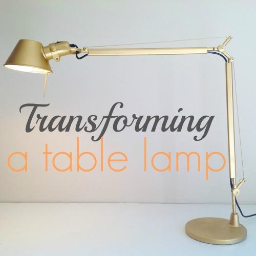 Transforming A Table Lamp - mydearirene