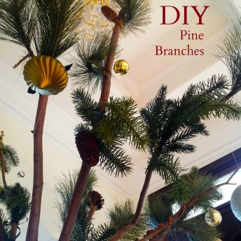 Make Your Own Faux Pine Branches  For Less