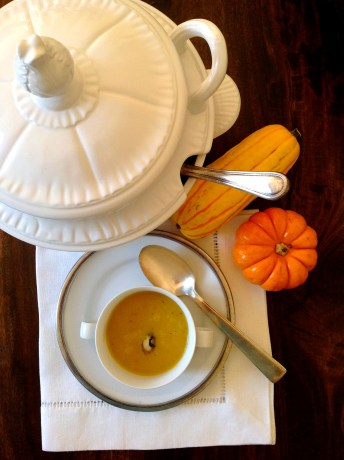 Pumpkin Soup With Truffle Butter