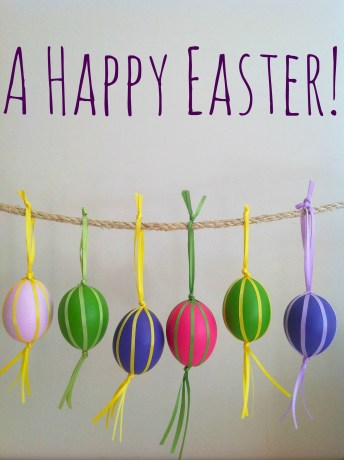 Colorful Easter Eggs With A Tassel