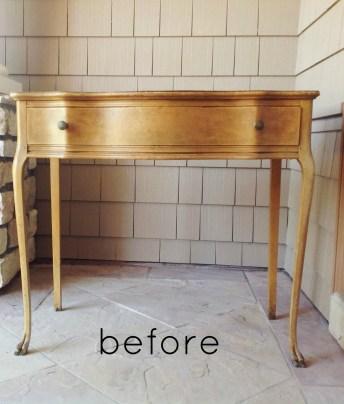 Craiglist Vanity Desk Makeover