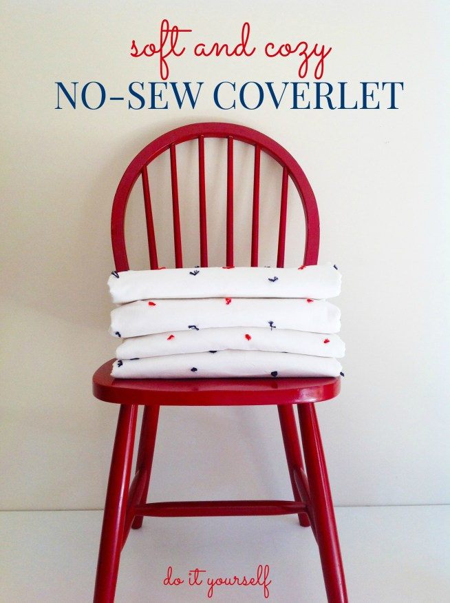 No-Sew Coverlet For The Boy's Room