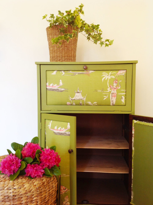 Chinoiserie Chiffonier With Shelves - mydearirene