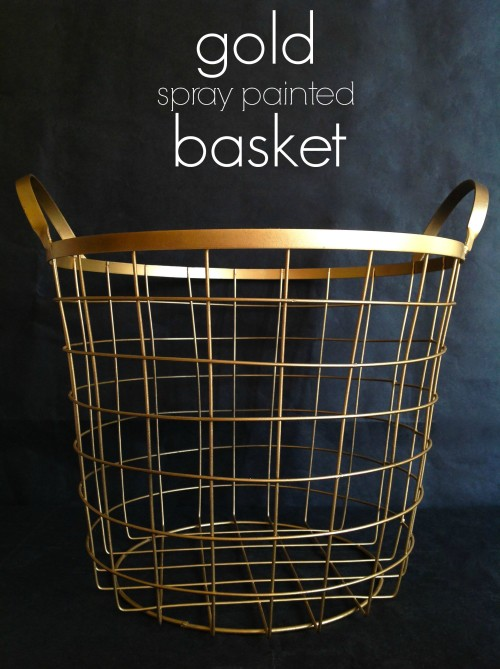 Gold Spray Painted Basket - mydearirene
