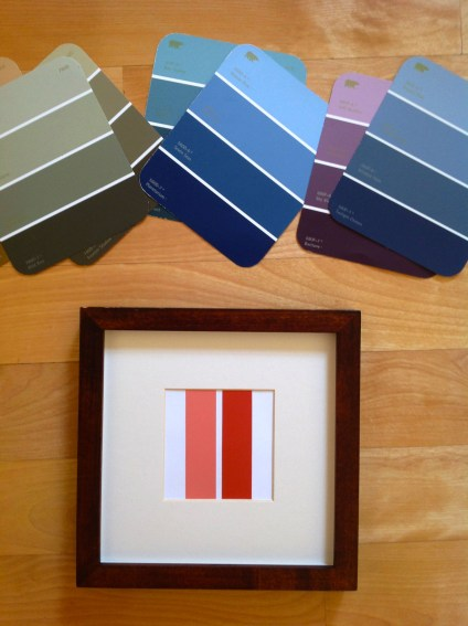Paint Chip Minimal Wall Art