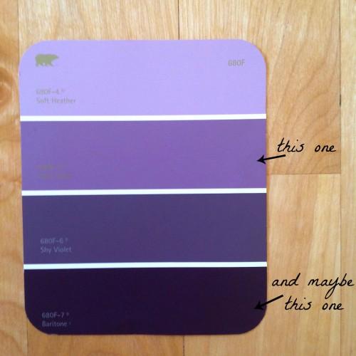 Purple Paint Chip - mydearirene