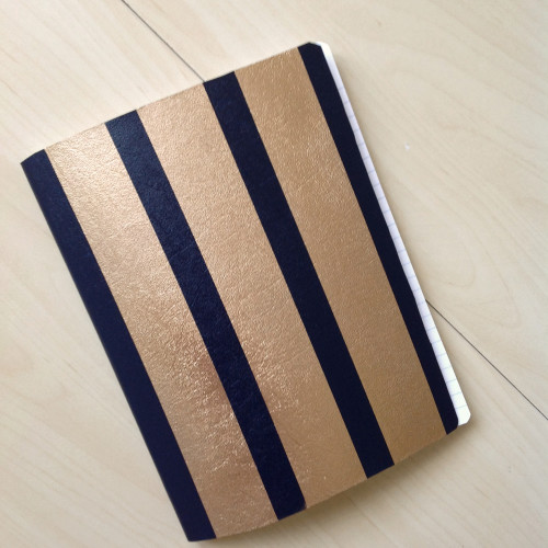 Notebook With Stripes - mydearirene.com
