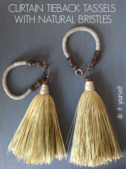 DIY Curtain Tieback Tassels Like You've Never Seen Before!