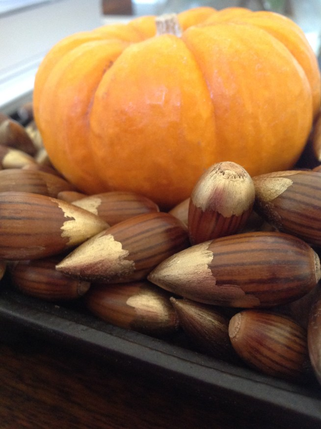 The Perfect Vase Filler For Fall:  Acorn Bullets