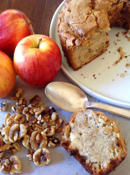 Apple Walnut Cake Slice - mydearirene.com