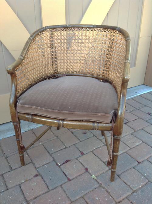 Faux Bamboo Cane Chair - mydearirene.com