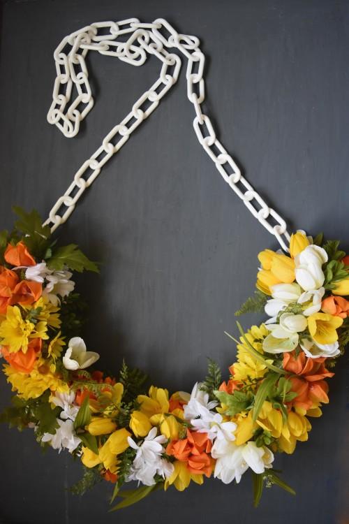 Half Flower Wreath