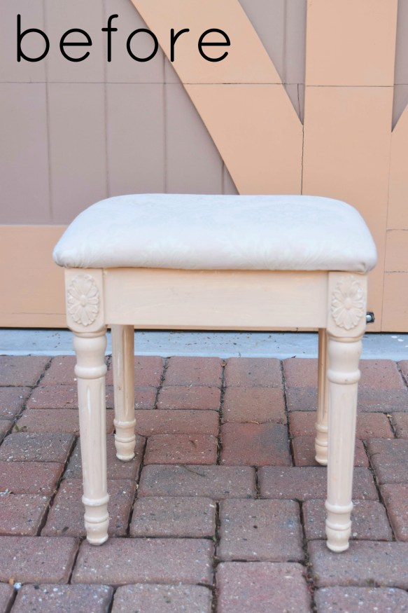 Upholstered Stool Quick Remake