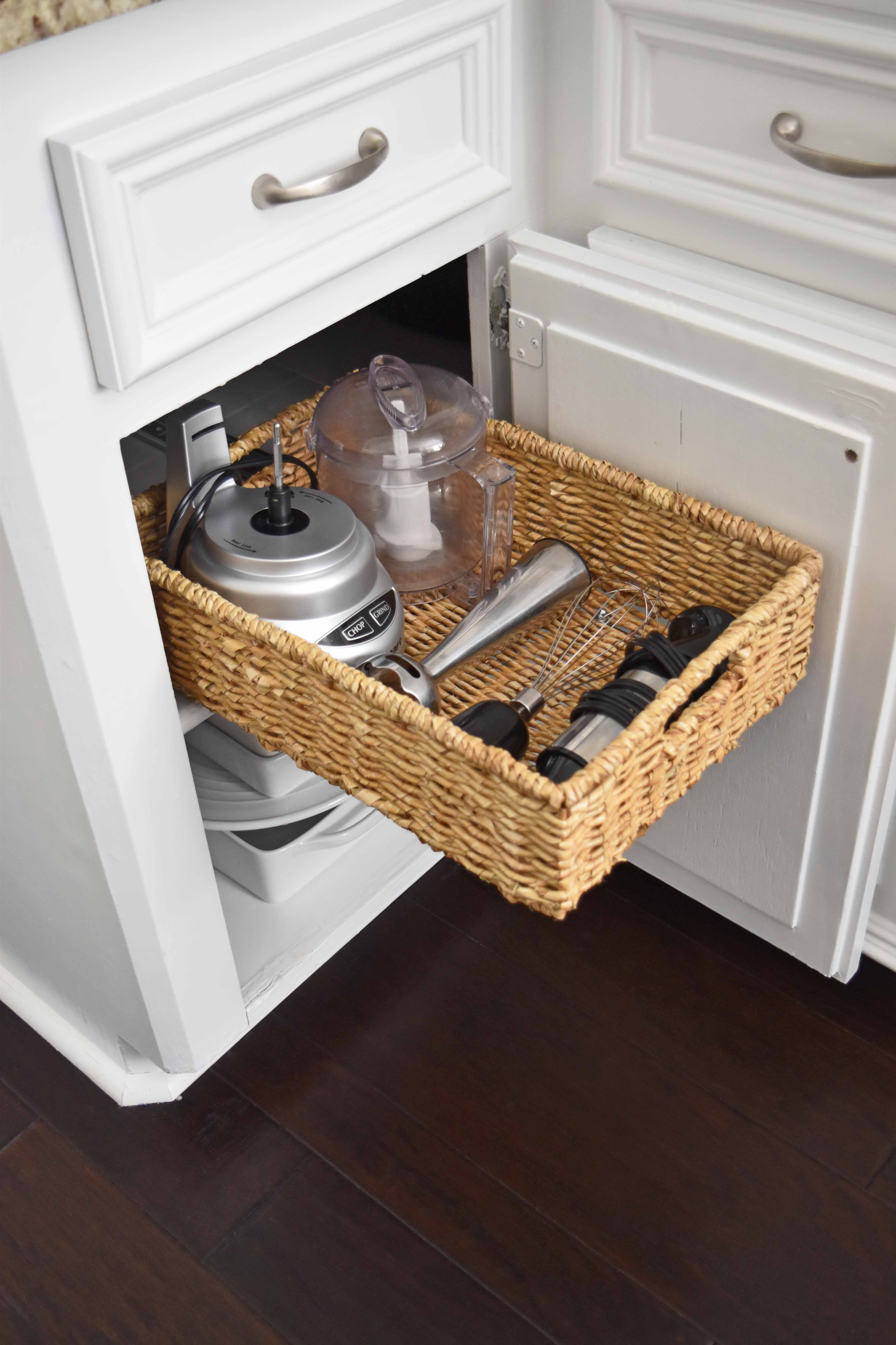 DIY Pull Out Basket For The Kitchen U2013 Mounted In Minutes!