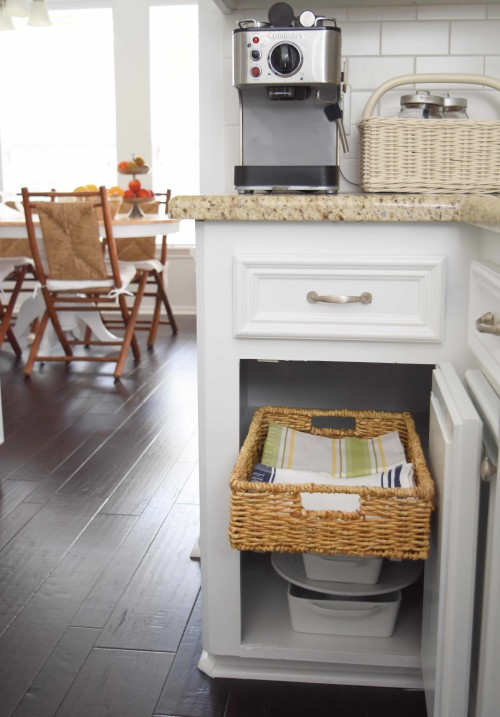 DIY Pull-Out Basket In The Kitchen - mydearirene.com