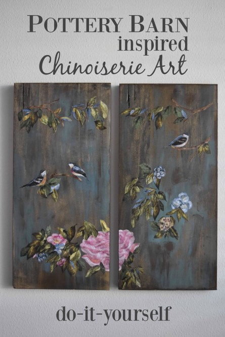 DIY Pottery Barn Inspired Chinoiserie Art Panels – A Fun Collage Project