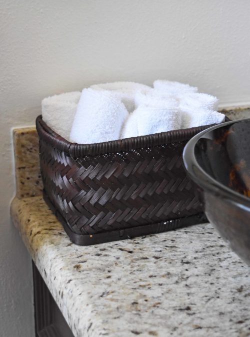 Wicker Basket For The Half Bath - mydearirene.com