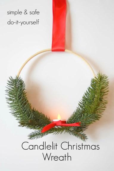 Candlelit Christmas Wreath