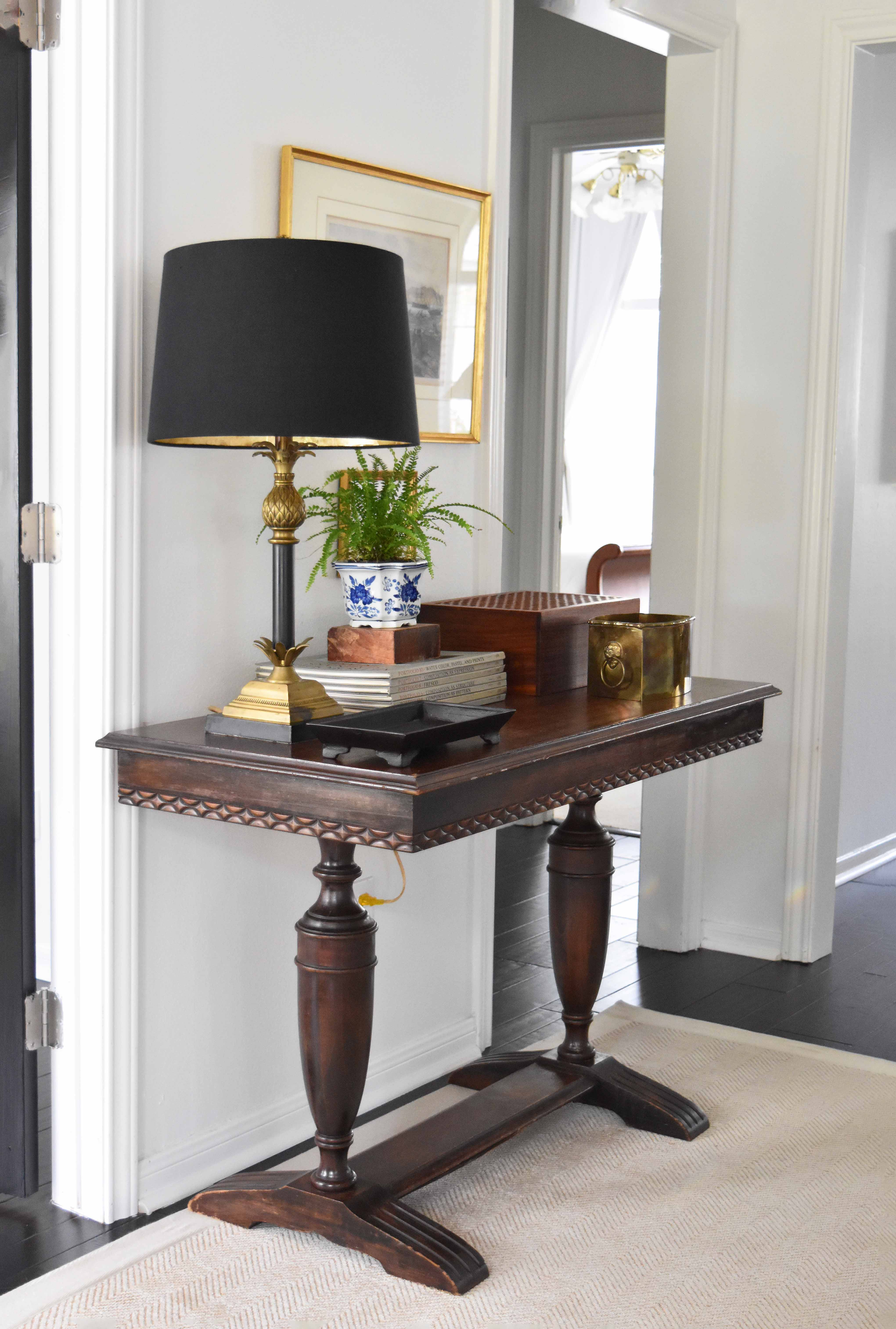 A Classic Entryway Setup For Under $100 (Furniture Included)