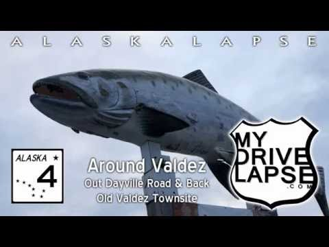A drive around Valdez, out Dayville Road, Old Townsite Dashcam