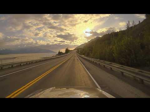 Seward Highway along Turnagain Arm at Sunset