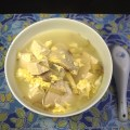 Chinese fish soup with Tofu and Egg drop