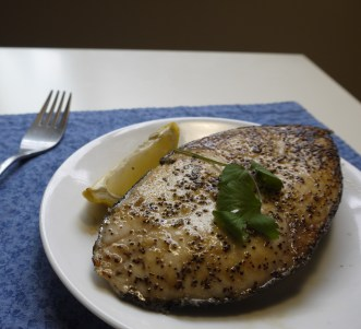 Grilled Escolar Fish Steak