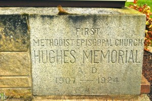 Hughes Memorial Stone (detail)