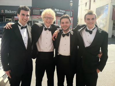 Avenue B's members, from left -- Max Bennett, Miles Laven, Cory Franklin and Jack Roben.