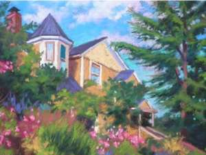 "Cheryl Hufnagel's pastel painting, ""Stately"" was pronounced the winner of the Plein Air Edmonds Poster Contest, and will be the image representing all Plein Air events."