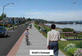 Proposed improvements include a 10-foot-wide promenade.