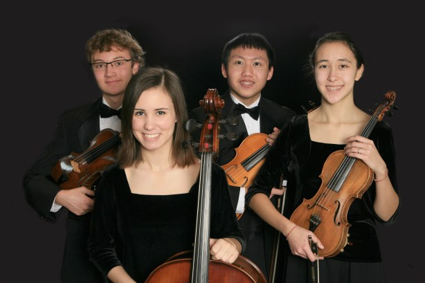 """Beatles 4tet"" shows (l-r) Elliot Harrison, Madeleine Jeffers, Jonathan Mah and Hannah Gorham"