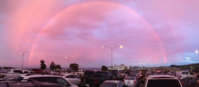 From Edmonds resident Chuck Woodbury, of the rainbow while he was waiting in Kingston for the ferry to Edmonds.