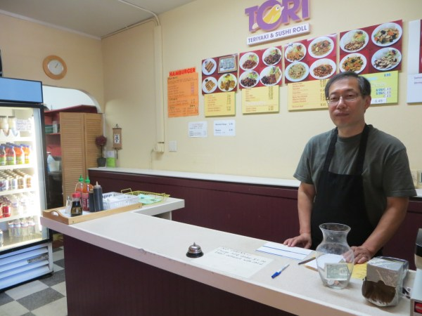 Tori Teriyaki owner Joon Park. (Photo by Caitlin Plummer)