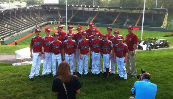 Here's the first photo of the Pacific Little League team at their photo session in Williamsport, Penn. Wednesday. The team takes on the Jackie Robinson West team out of Chicago at noon Pacific time Thursday. The game will be broadcast live on ESPN.