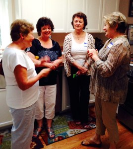 "Sandra Walker, Maureen Rogers, Paddy Eger and Sandra Kelly of the ""Perrinville Ladies Writers Club."""