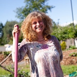 """Zsofia Pasztor is on a mission to """"walk her talk"""" and spread the word about the health and life-enhancing benefits of growing, harvesting, preparing and eating food from your own garden. (photo courtesy Farmer Frog)"""